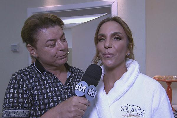 Ivete Sangalo dá entrevista para David Brazil no Domingo Legal