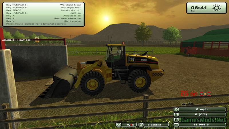 At 966h Wheel Loader V 2 0 Gamesmods Net Fs17 Cnc