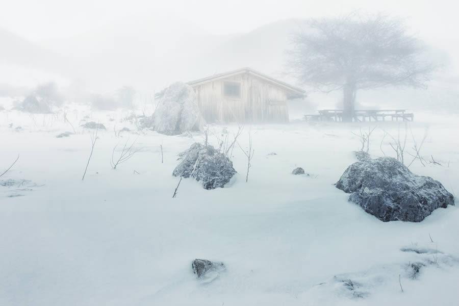 Hut Amidst a Storm