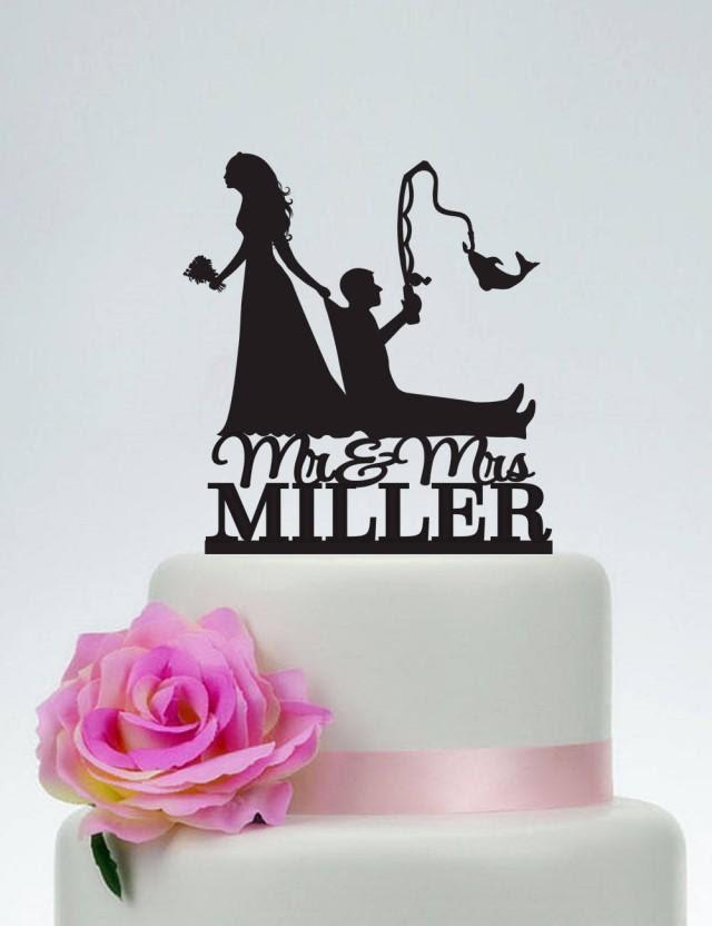 Download Bride Pulling Groom Bride Dragging Groom Funny Cake Topper Custom Fishing Cake Topper Mr And Mrs Cake Topper Outdoor Wedding C191 2726567 Weddbook