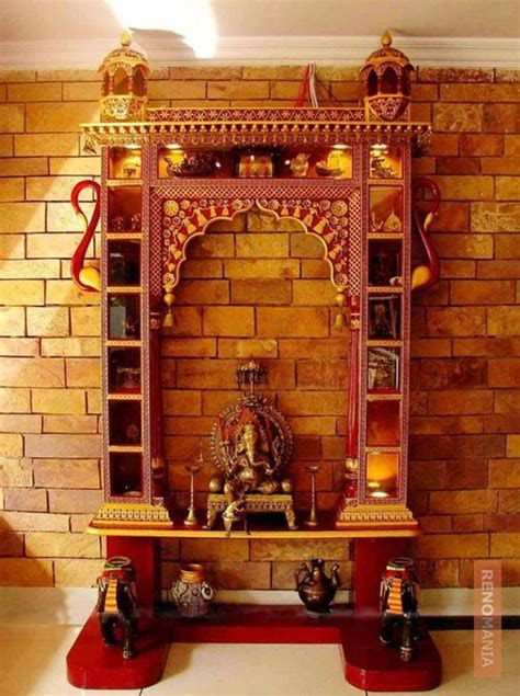 mind calming wooden home temple designs