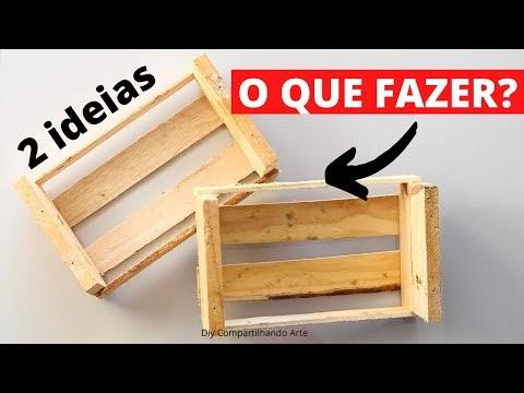 DO LIXO AO LUXO RECICLANDO MINI CAIXOTE