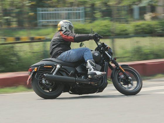 Harley-Davidson Street 750 review cornering shot