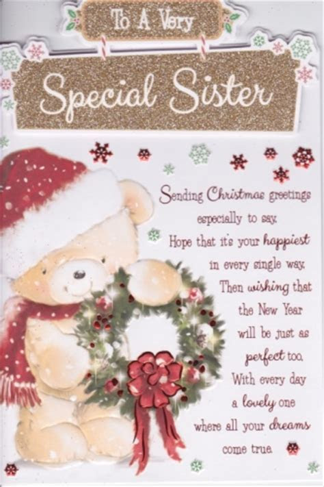 To A Very Special Sister Christmas Greetings Personalised