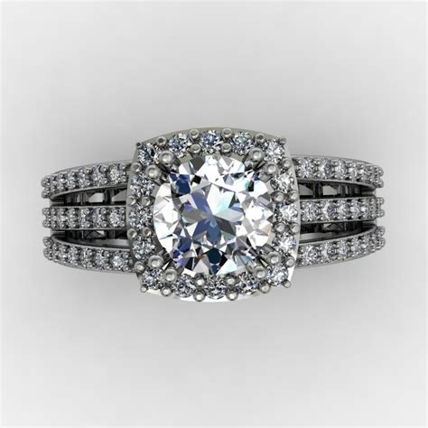 triple split shank engagement ring samuel kleinberg