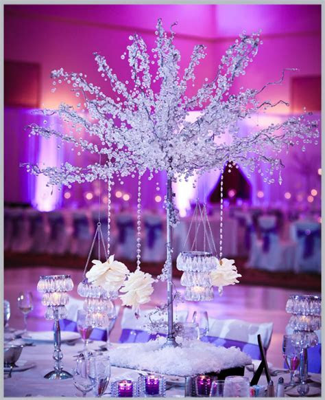 White Purple Wedding Theme