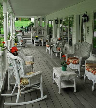 Porch area of The 1896 House Barnside Luxury Inn