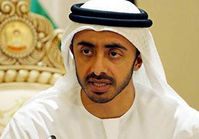 الشيخ عبد الله بن زايد آل نهيان وزير الخارجية بدولة الإمارات