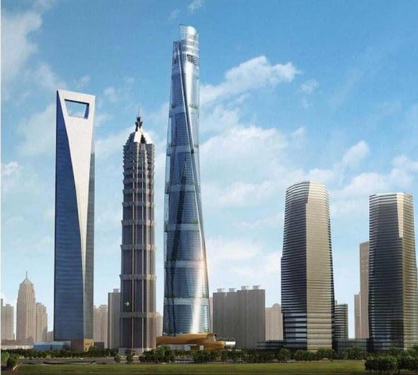 Shanghai Tower J Hotel 5 600x539 14 Futuristic Building Designs in China