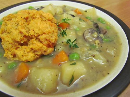 Veggie Potpie Stew; Sweet Potato Drop Biscuits