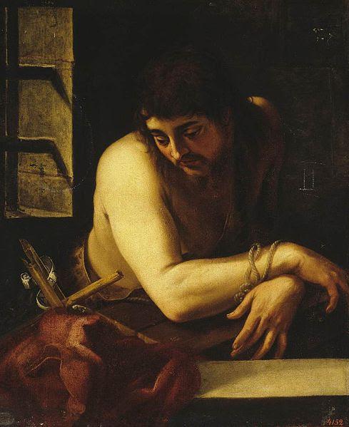 File:Juan Fernández de Navarrete - St John the Baptist in the Prison - WGA16467.jpg
