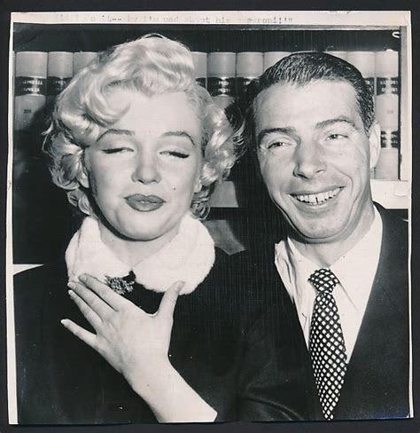 1954 Wire Photo MARILYN MONROE & JOE DiMAGGIO Wedding Photo