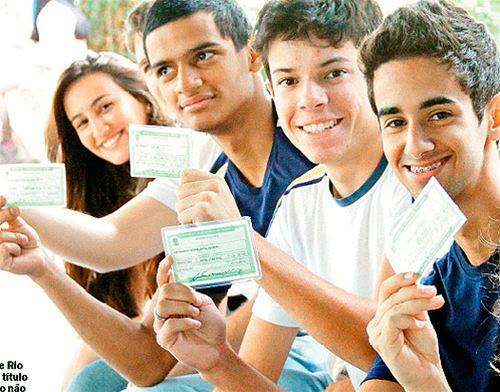 Percentil de jovens que tiraram título eleitoral é muito pequeno.