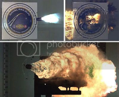 Electromatnetic Railgun from the US Navy