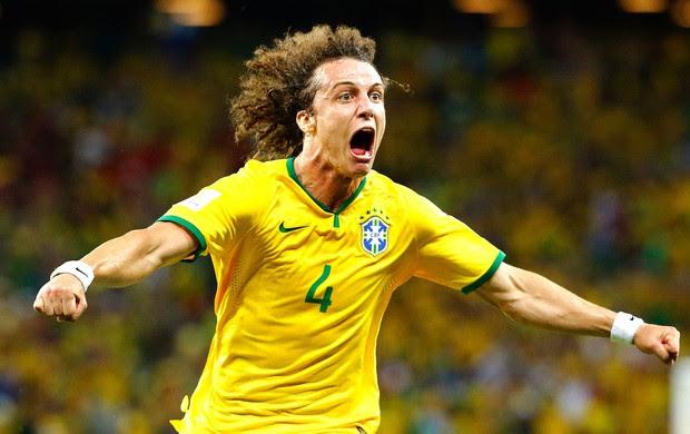 David Luiz gol jogo Brasil x Colômbia (Foto: Reuters)