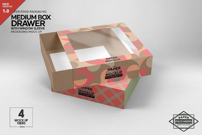 Medium Box Drawer WindowSleeve Mockup 5357961