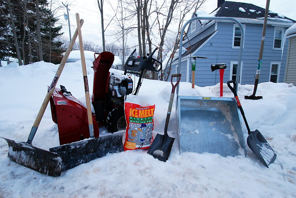 A wide variety of snow-removal equipment.