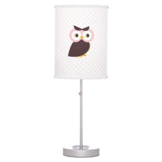 Pink Owl {nursery} Lamp