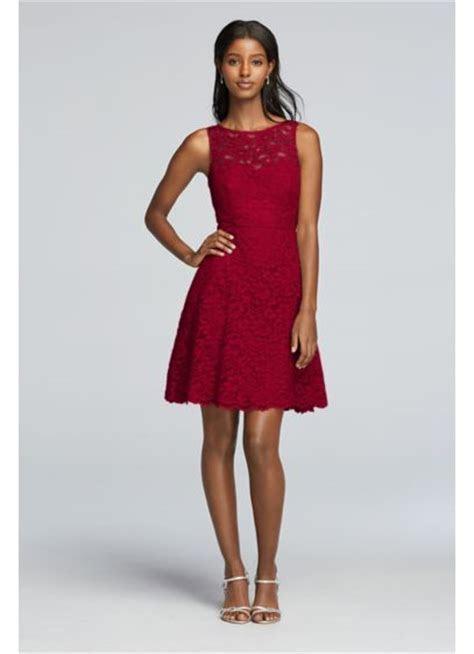 Short Sleeveless All Over Lace Bridesmaid Dress   David's