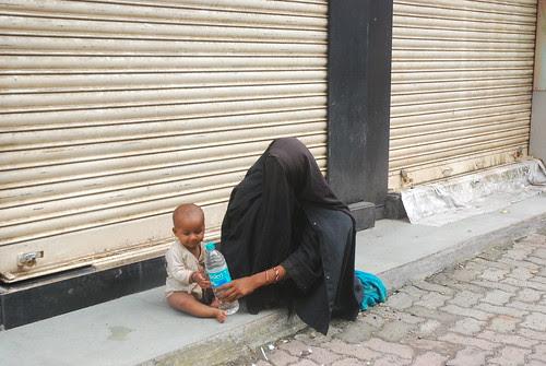 The Beggar Muslim Womans Fate - A Very Long Wait by firoze shakir photographerno1