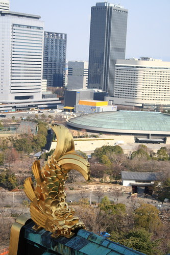 Roof of Osaka Castle, Japan