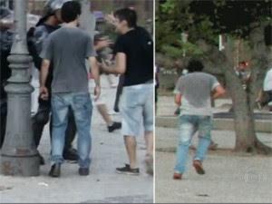 Perito comentou imagens de manifestantes no Rio (Foto: Reprodução/TV Globo)