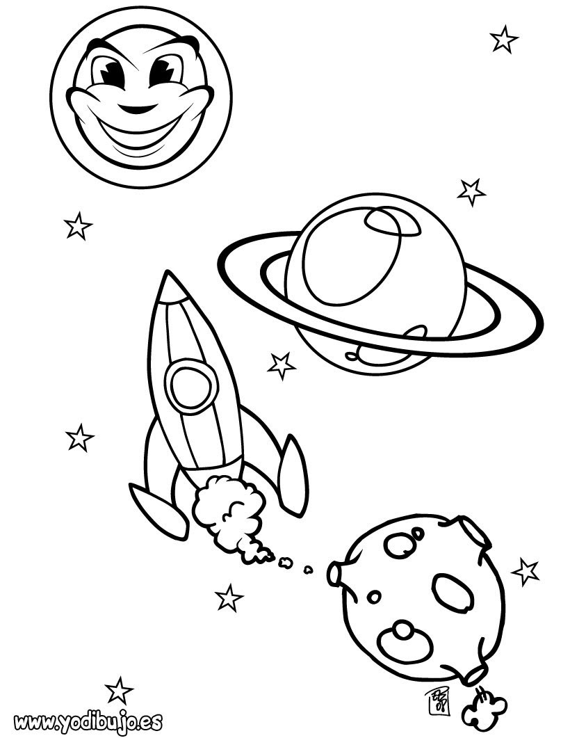 Dibujos Para Colorear Conjunto De Planetas Eshellokidscom