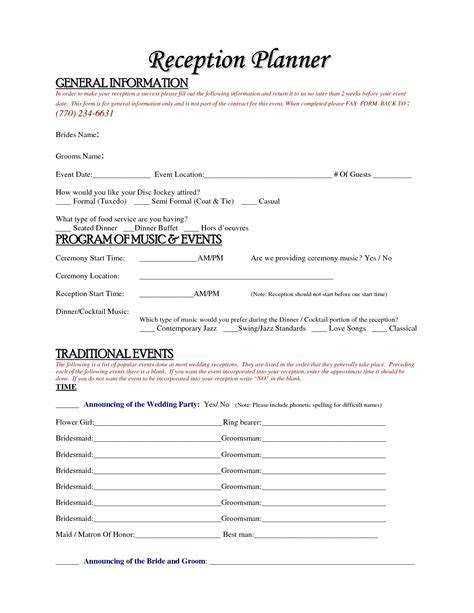 Free Wedding Planner Contract Template Accessoires pour