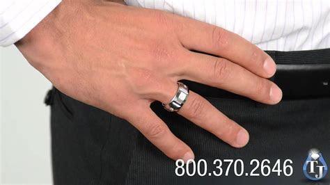 Cobalt Wedding Band with Diamonds by Benchmark, EKTON 10mm