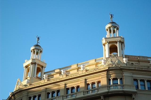 Building Over Plaça Catalunya, Barcelona, Spain