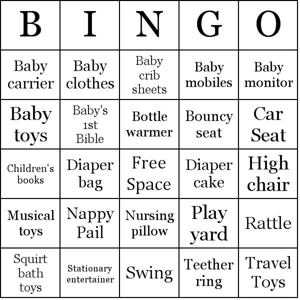 Prinyable bingo cards