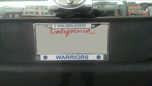 Good Out X 00622 4f4b4 Golden State Warriors License Plate Frame