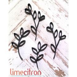 Acrylique - Branche - Noir mat