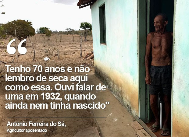 Seu Antônio mora no distrito de Maria Quitéria, em Feira de Santana (Foto: Alan Tiago Alves/G1)