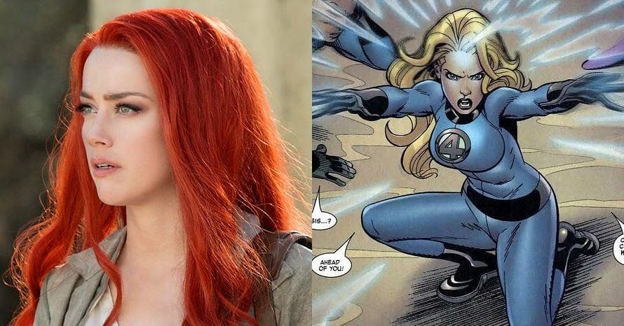 Amber Heard Aquaman Sue Storm Fantastic Beasts