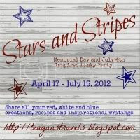 Stars and Stripes Blog Button