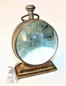 Antiguo Reloj De Bola Mecánico De Sobremesa O Escritorio Relojes