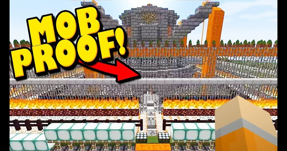 The Region Of Most Defended House In Minecraft Ever 100 Mob Proof Youtube Rga Gaming