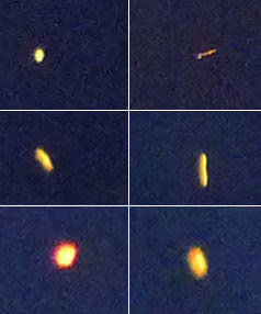 This light in the sky was captured on 25 January in Somerfield, Christchurch