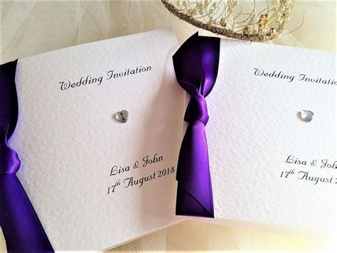 Purple Wedding Invitations   Purple Wedding Colours