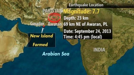 Localização do terremoto