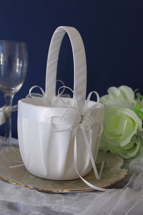 Wedding & Event   Flowergirl Basket   Butterfly Themed