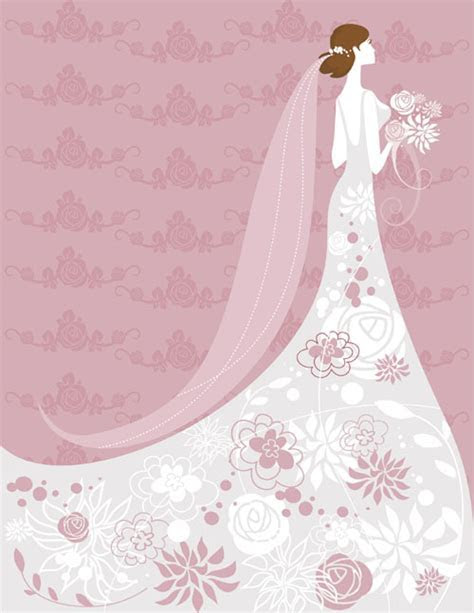 Set of Romantic Wedding vector background 03   Vector