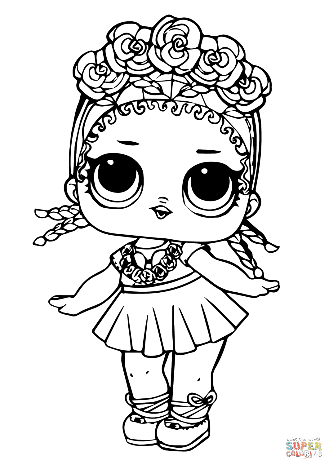 LOL Doll Coconut Q.T. coloring page | Free Printable ...