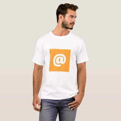 Hipstar @ T-shirt (Orange, mens)