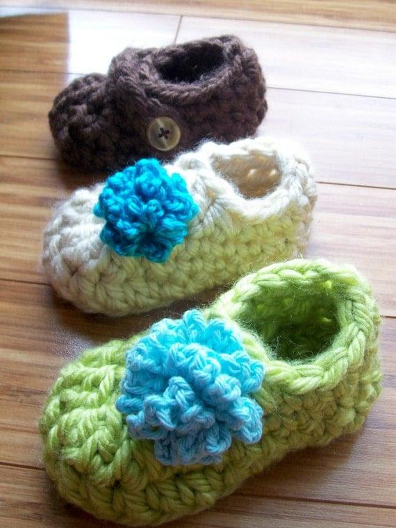 Toddler's Warm Crochet Slipper PDF Pattern Sizes 3-8  Boys or Girls