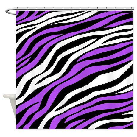 Zebra Print Mix Purple Shower Curtain by Starzraven