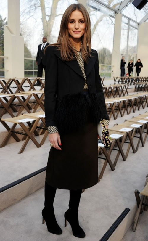 5 Olivia Palermo wearing Burberry at the Burberry Prorsum Womenswear Autumn Winter 2013 Show