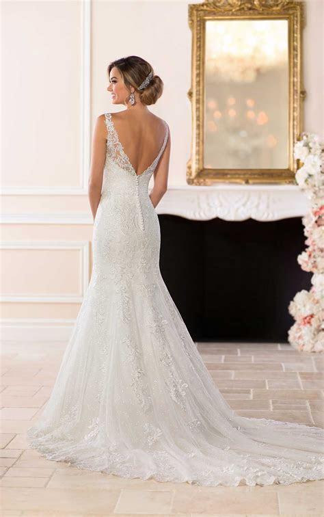 Lace Wedding Dress with Flared Skirt   Stella York Wedding