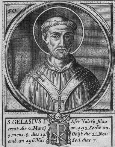 ST. GELASIUS I, Pope